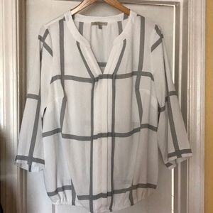 White with black strips blouse